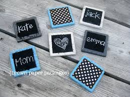 chalkboard coasters simply kierste design co