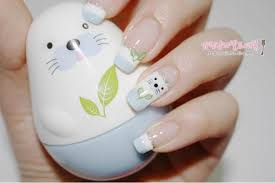 nail art kawaii seal ruru victoria