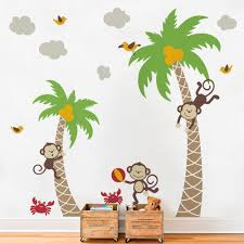 monkey wall decals for bathroom luxurious home design