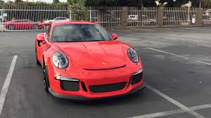 orange porsche 911 gt3 rs porsche 991 gt3 rs lava orange up close youtube