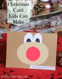 simple kid handmade card rudolph the reindeer