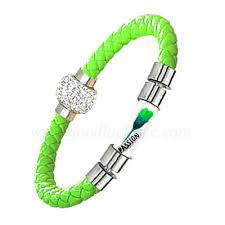 Rice Name Necklace Brm 1neongreen Neon Green Leather Rice Bracelet Brm 1neongreen