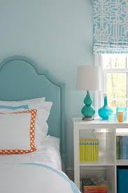 Turquoise And Orange Bedroom Turquoise Kids Room With Blue And Orange Bedding Transitional