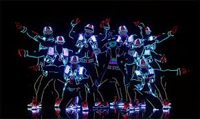 amazing human light show wows the crowd at america s got talent