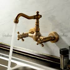 kitchen faucet wall mount new handle wall mount kitchen faucet in antique brass