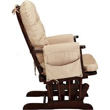 Gliding Rocking Chair Baby Relax Harbour Glider Rocker And Ottoman Espresso With Beige