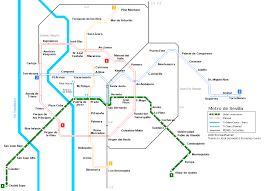 Madrid Subway Map Urbanrail Net U003e Europe U003e Spain U003e Metro De Sevilla
