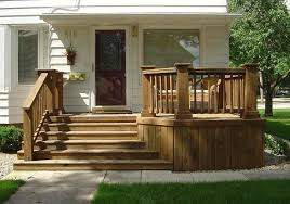 Front Entry Stairs Design Ideas Excellent Brown Small Front Porches Steps Design For Terrace Deck
