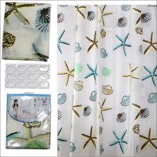 bathroom magnificent blue seashell shower curtain horse shower