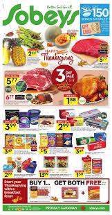sobeys flyer on happy thanksgiving october 6 12 2017