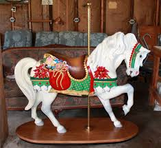 christmas carousel mgr museum christmas stander sold antiquecarousels
