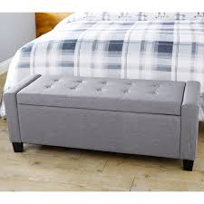 Storage Seating Bench Furniture Ottoman Bench Seat Tufted Storage Bench Velvet