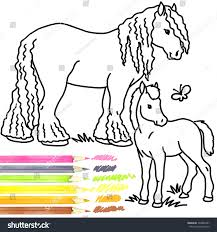 horse foal coloring book stock illustration 394889287 shutterstock