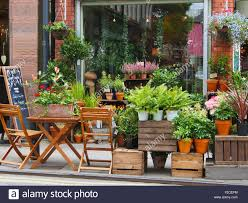 Flower Shops by Tib Street Shops In The Northern Quarter Manchester Uk Stock Photo