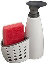 amazon soap dispenser kitchen sink casabella sink sider soap dispenser with sponge grey amazon co uk