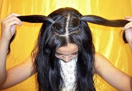 two ear hairstyle how to make cute little kitty cat ears with your own hair