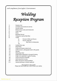wedding day program wedding day schedule template best templates