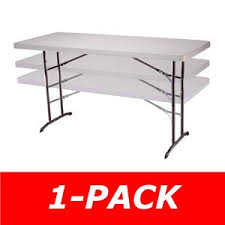 Folding Table Adjustable Height Lifetime 80565 Adjustable 6 Ft Table On Sale With Fast Free Shipping
