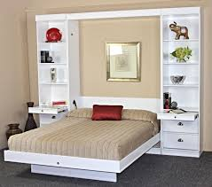 bristol birch vertical wall bed w table by wallbeds
