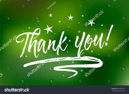 thank you bokeh green lights background stock vector 666570343