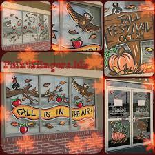 Thanksgiving Window Paintings Window Painting Artwork Portfolio Kids Playce Humble Tx Fall