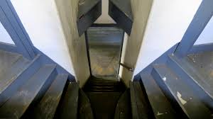 Looking Down Stairs by Southern Maine Coast Part 1 Fort Mcclary And The Old Mills At
