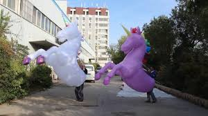 Unicorn Costume Inflatable Unicorn Costume Horse Rider Suit Youtube