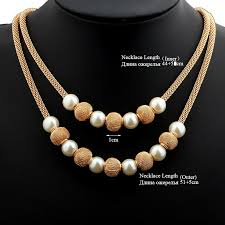beads gold necklace images Vivilady 2017 spring imitation pearl beads gold color metal net jpg