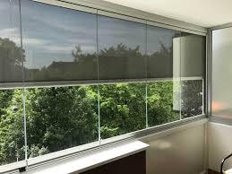 balkon wetterschutz balkonverbau glas zum falten sunflex sf 25 inkl beschattung
