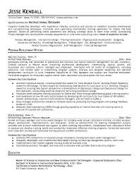 free instructional designer resume example