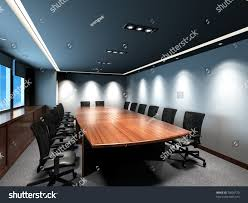 business meeting room office modern decoration stock illustration