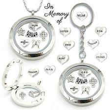 remembrance charms remembrance in memory of locket keyring necklace silver floating