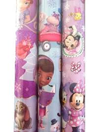 doc mcstuffins wrapping paper 3pk disney junior gift wrap sofia minnie