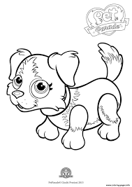 pet parade cute dog border collie 1 coloring pages printable