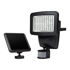 solar motion sensor flood light lowes shop sunforce 180 degree 1 head off white solar powered integrated