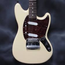 squire mustang squier vintage modified mustang electric guitar vintage white reverb