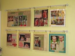 Scrapbook Page Protectors Love This Idea To Display Art From Little Ones Curtain Rod Page