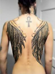 Wing Back Tattoos For - 100 tastefully provocative back tattoos for