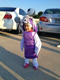 Boo Monsters Inc Halloween Costume by The Ballard Family Blog How To Make A Monster U0027s Inc Boo Costume