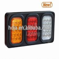 led tail lights for a trailer led tail light box 3 rectangular light assembly truck and trailer