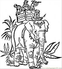 indian elephant coloring free india coloring pages