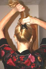 jaw clip flippy updo the hair loom