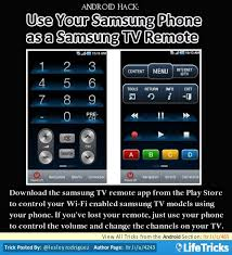 samsung remote app android android hack use your samsung phone as a samsung tv remote