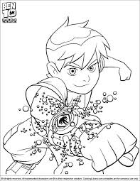 holiday coloring pages ben ten coloring pages free printable