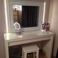 bedroom vanity with lighted mirror modern desks decoration what