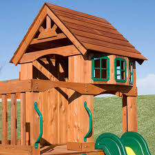 cedar wooden swing set backyard discovery atlantis playground play