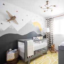 baby nursery decor contemporary designs ideas yellow and grey