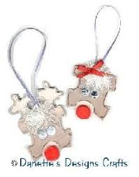 puzzle rudolph ornament markers glue string puzzle pieces
