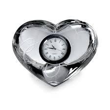 amazon com mikasa love story glass clock home u0026 kitchen