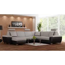 canapé droit 5 places canapé d angle droit 5 places avec méridienne et têtières coloris b